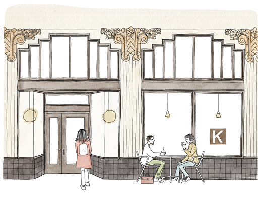 Illustration of Kantine, SF  by © Johanna Kindvall